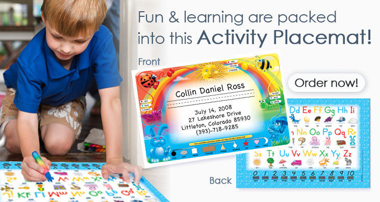 Activity Placemats