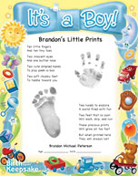 Little Prints It's a Boy Design